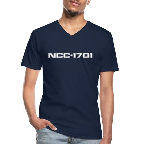NCC-1701 White - Men's V-Neck T-Shirt