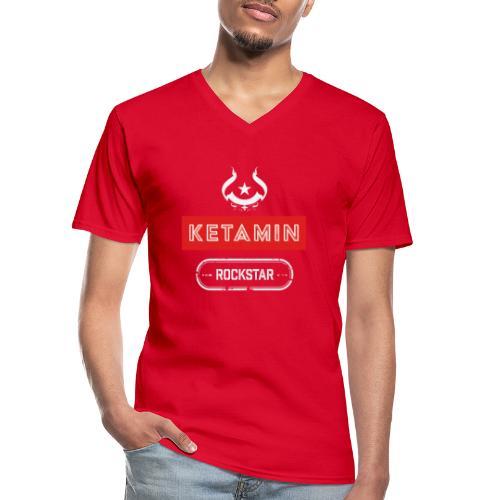 KETAMIN Rock Star - Weiß/Rot - Modern - Men's V-Neck T-Shirt