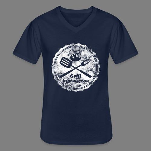 Grill Instructor - Klassisches Männer-T-Shirt mit V-Ausschnitt
