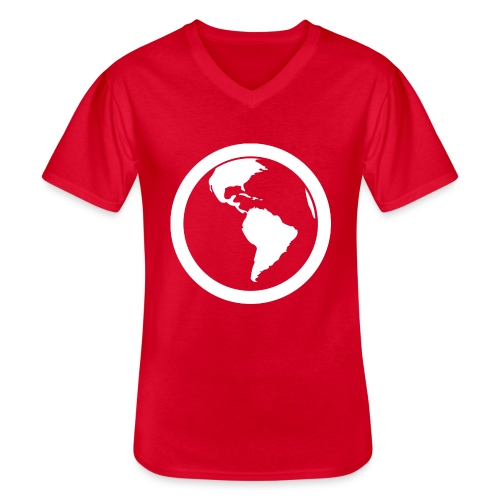 Earth - Maglietta da uomo classica con scollo a V