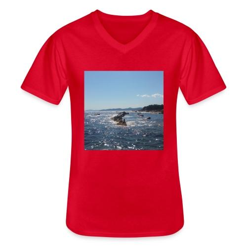 Mer avec roches - T-shirt classique col V Homme