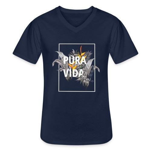 Pura vida / camisetas pura vida /pura vida t-shirt - Camiseta clásica con cuello de pico hombre