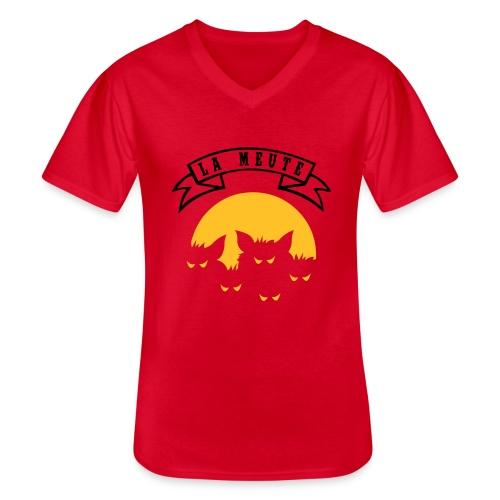 la meute - T-shirt classique col V Homme