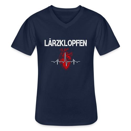 Lärzklopfen - Klassisches Männer-T-Shirt mit V-Ausschnitt