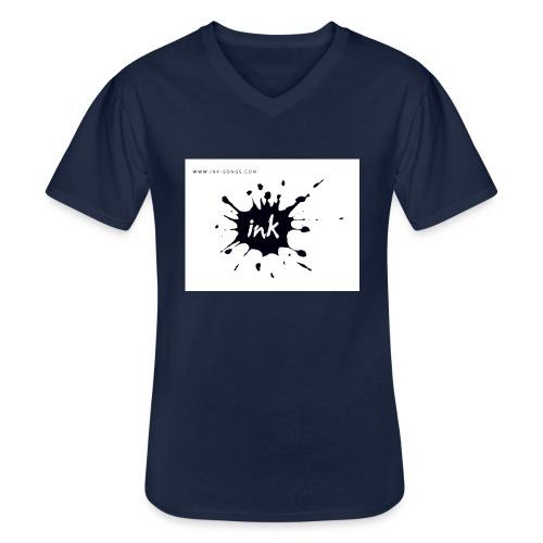 Ink Logo and website - Men's V-Neck T-Shirt
