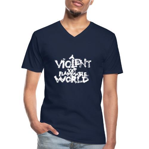 aViolentYetFlammableWorld - Maglietta da uomo classica con scollo a V