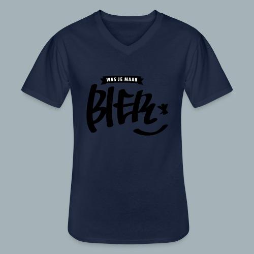 Bier Premium T-shirt - Klassiek mannen T-shirt met V-hals