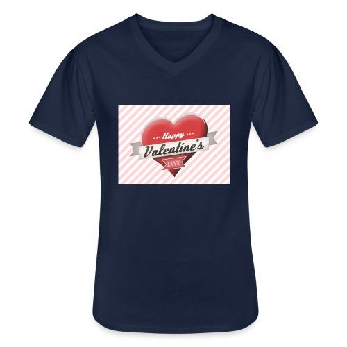 happy valentines day - Men's V-Neck T-Shirt