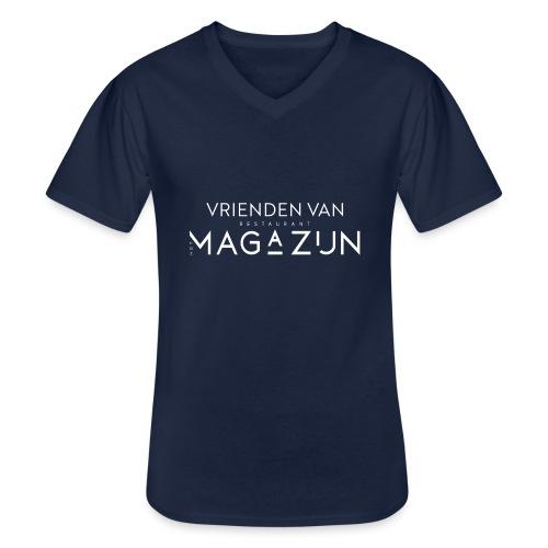 Vrienden van Restaurant het Magazijn - Klassiek mannen T-shirt met V-hals
