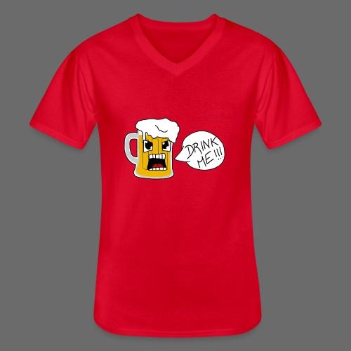 Bière - T-shirt classique col V Homme