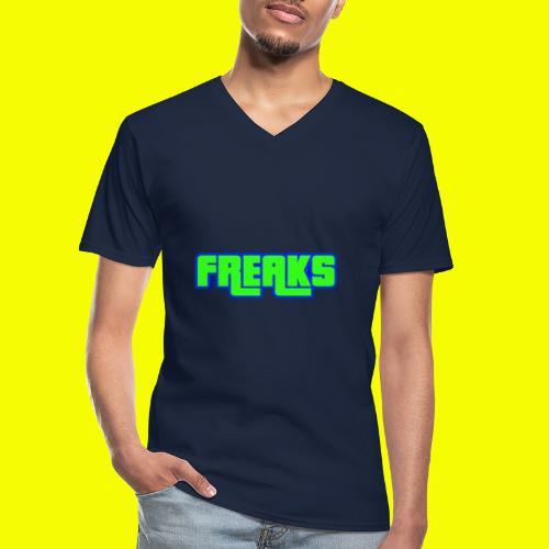 YOU FREAKS - Klassisches Männer-T-Shirt mit V-Ausschnitt