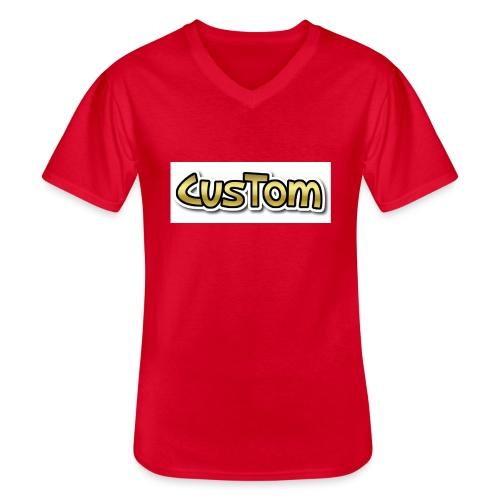 CusTom GOLD LIMETED EDITION - Klassiek mannen T-shirt met V-hals