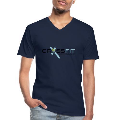 Logo klein - Klassisches Männer-T-Shirt mit V-Ausschnitt