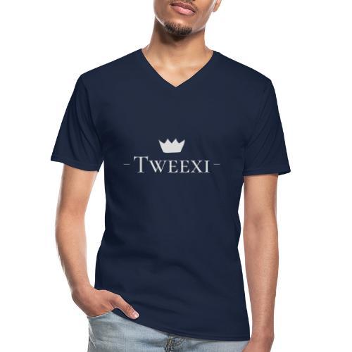 Tweexi logo - Klassisk T-shirt med V-ringning herr