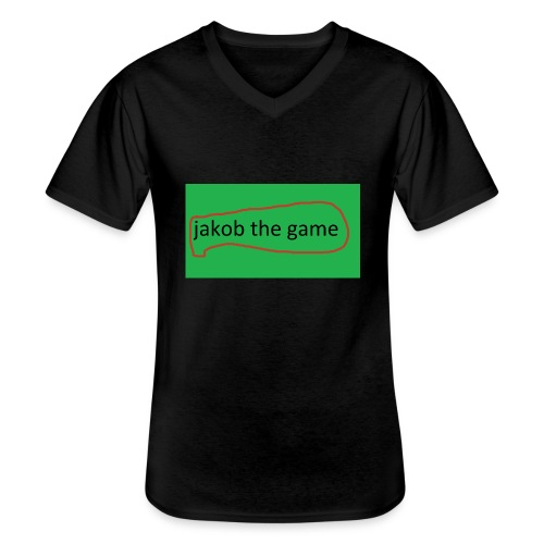 jakob the game - Klassisk herre T-shirt med V-udskæring