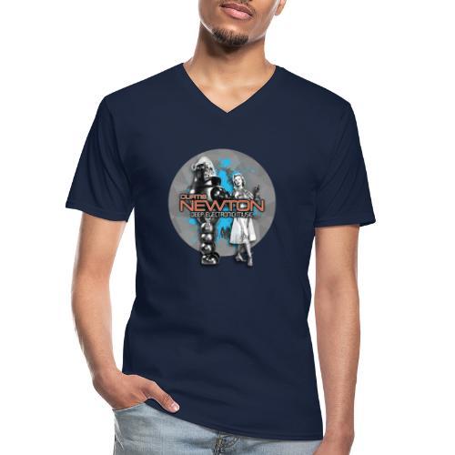 CURTIS NEWTON - DEEP ELECTRONIC MUSIC - Klassisches Männer-T-Shirt mit V-Ausschnitt