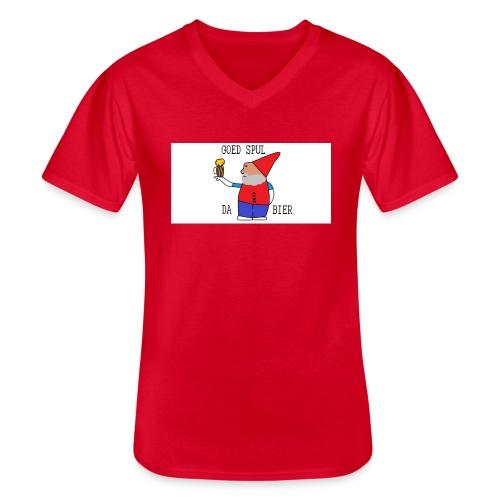 BIER KUT! - Klassiek mannen T-shirt met V-hals