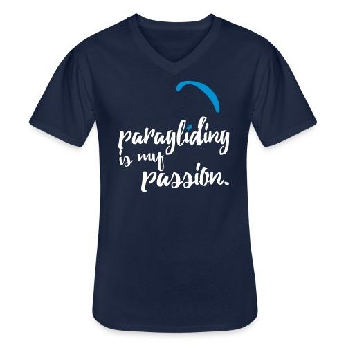 paragliding is my passion - Klassisches Männer-T-Shirt mit V-Ausschnitt