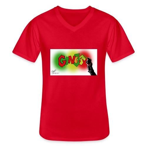 Ganja - Klassisk herre T-shirt med V-udskæring