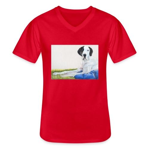 Grand danios harlequin - Klassisk herre T-shirt med V-udskæring