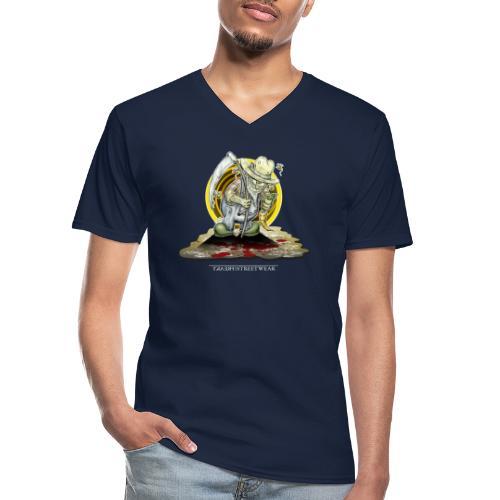 PsychopharmerKarl - Klassisches Männer-T-Shirt mit V-Ausschnitt