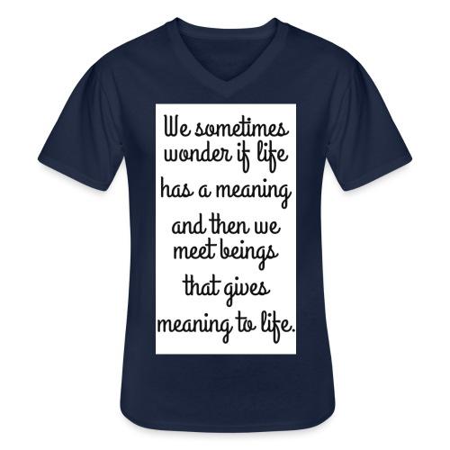 Phrase d'amour en anglais - T-shirt classique col V Homme