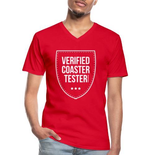 Badge CoasterTester vérifié - T-shirt classique col V Homme
