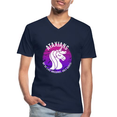 Atassiani - Siamo come unicorni, solo più rari! - Maglietta da uomo classica con scollo a V