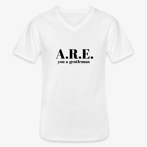 ARE you a gentleman - Men's V-Neck T-Shirt