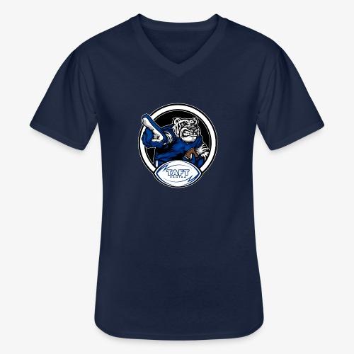 4769739 126934379 white tiger orig - Klassinen miesten t-paita v-pääntiellä