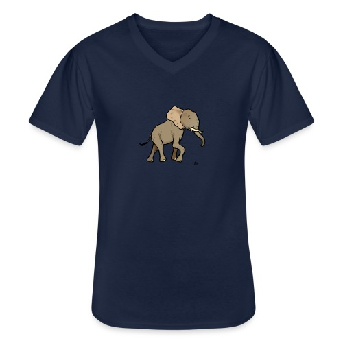 African Elephant - Men's V-Neck T-Shirt