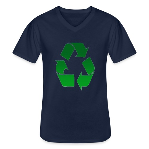 Recyclage - T-shirt classique col V Homme