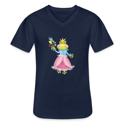 Prinzessin Frosch - Klassisches Männer-T-Shirt mit V-Ausschnitt