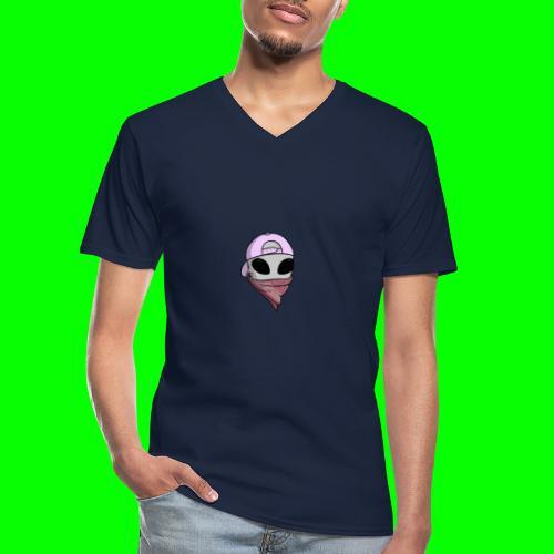 gangsta alien logo - Maglietta da uomo classica con scollo a V
