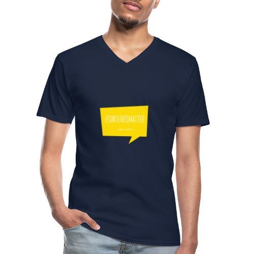 Sinti Lives Matter - Klassisches Männer-T-Shirt mit V-Ausschnitt