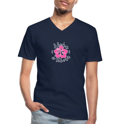Aloha Bitcoin! - Camiseta clásica con cuello de pico hombre