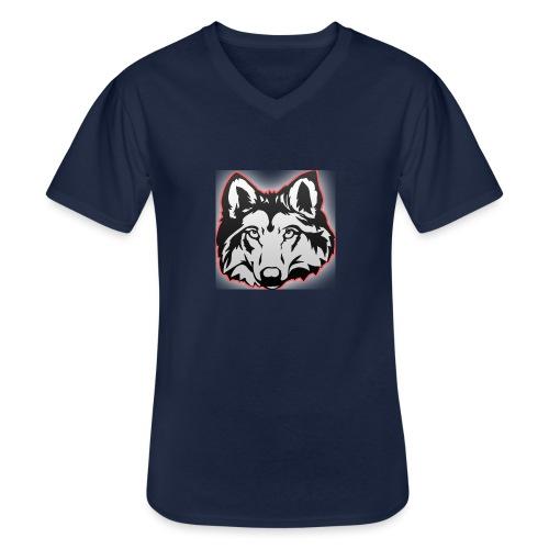 Wolfie (Red) - Men's V-Neck T-Shirt