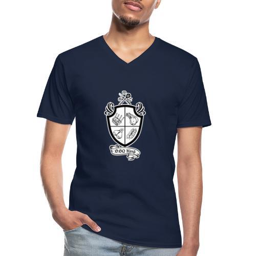 BBQ King - Maglietta da uomo classica con scollo a V