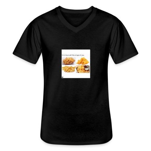 Shape - Klassisches Männer-T-Shirt mit V-Ausschnitt