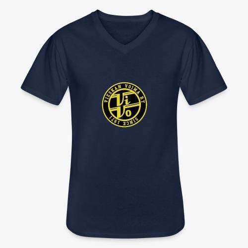ViVo Since 1971 - Klassinen miesten t-paita v-pääntiellä