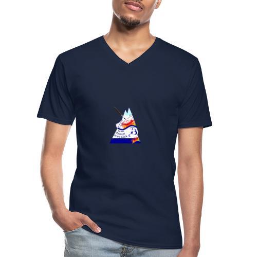 Logo colori - Maglietta da uomo classica con scollo a V