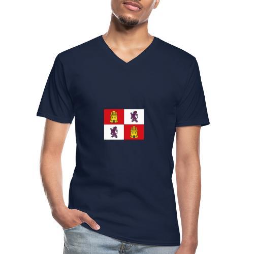 ESCUDO CASTILLA Y LEON - Camiseta clásica con cuello de pico hombre