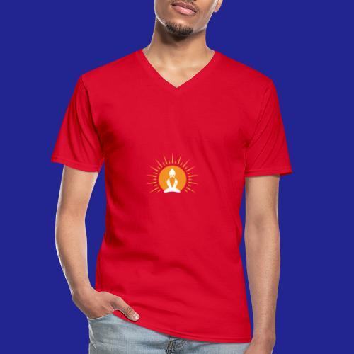 Guramylyfe logo white no text - Men's V-Neck T-Shirt