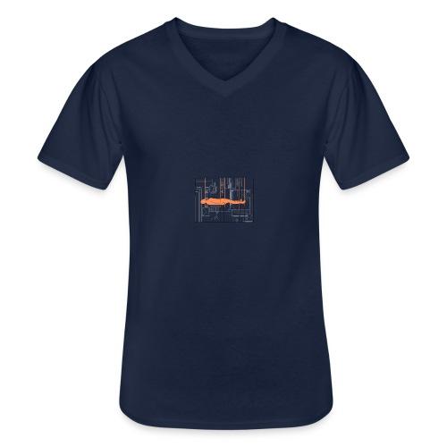 DIAGRAMME - T-shirt classique col V Homme
