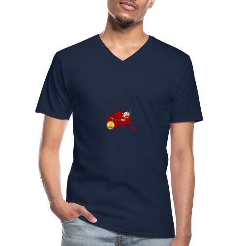 FitwayStyle 3 - Camiseta clásica con cuello de pico hombre