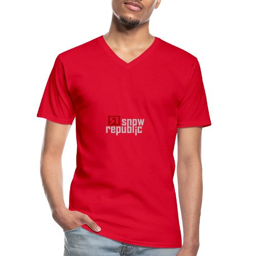 SNOWREPUBLIC 2020 - Klassiek mannen T-shirt met V-hals