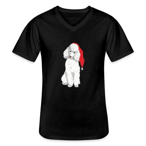 Poodle toy W - christmas - Klassisk herre T-shirt med V-udskæring
