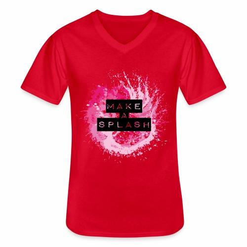 Make a Splash - Aquarell Design - Klassisches Männer-T-Shirt mit V-Ausschnitt