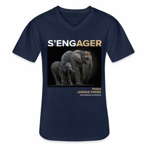 1 Achat = 1 Don à l'association Rainfer - T-shirt classique col V Homme