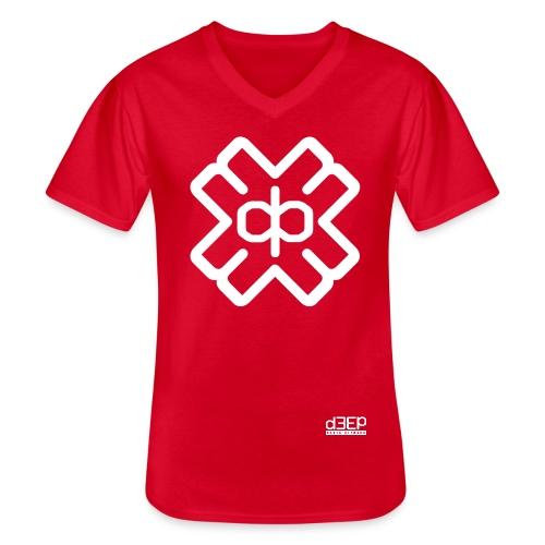 d3eplogowhite - Men's V-Neck T-Shirt